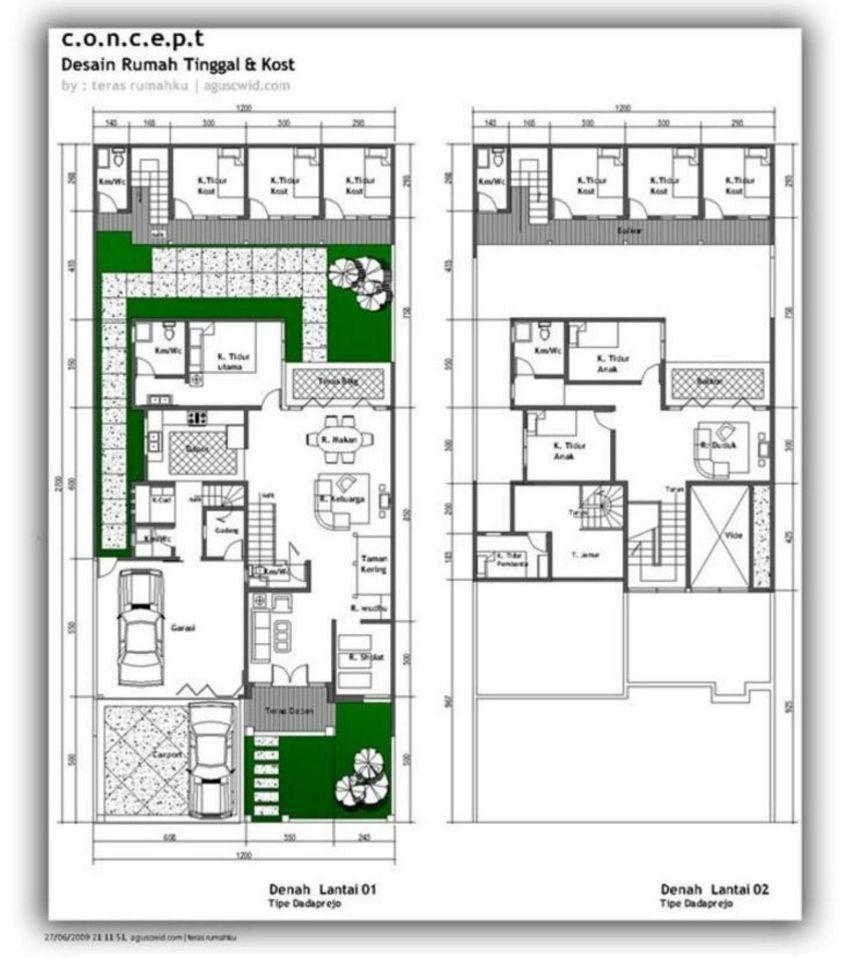 Gambar Desain Denah Rumah Mewah Minimalis Terbaru | Desain ...