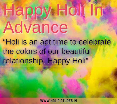 happy Holi in advance HD images