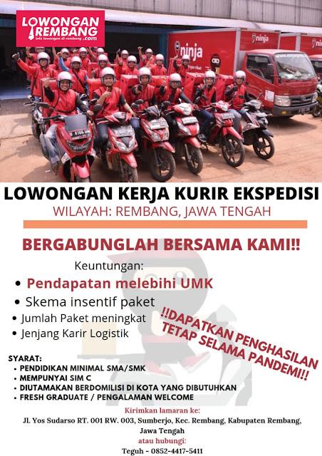 Lowongan Kerja Kurir Ekspedisi Ninja Xpress Wilayah Rembang Jawa Tengah