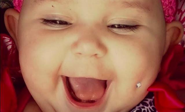 «Тело моей дочери — мое дело»: мама выложила фото 6-месячной дочери с пирсингом в щеке