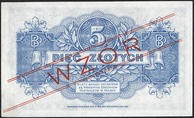 World money Poland 5 old Polish złoty banknote bill