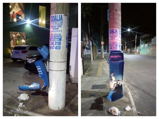 Presos em flagrante elementos que estavam destruindo lixeiras com bombas no Rio Vermelho