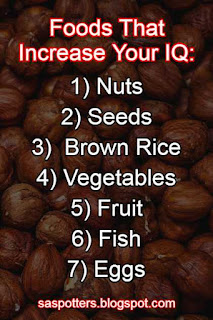 List of foods that increase IQ
