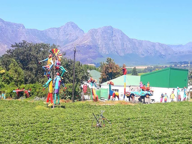Colourful Scarecrows at the Mooiberge Strawberry Farm