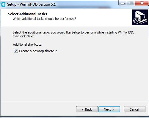 Hướng dẫn cài đặt phần mềm WinToHDD đơn giản e
