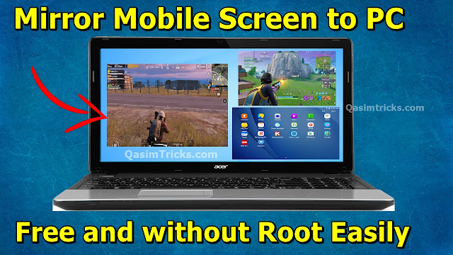 How to Mirror Mobile Screen to PC with or without using USB Cable for free