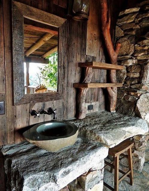 ตกแต่งอ่างล้างมือแบบธรรมชาติ