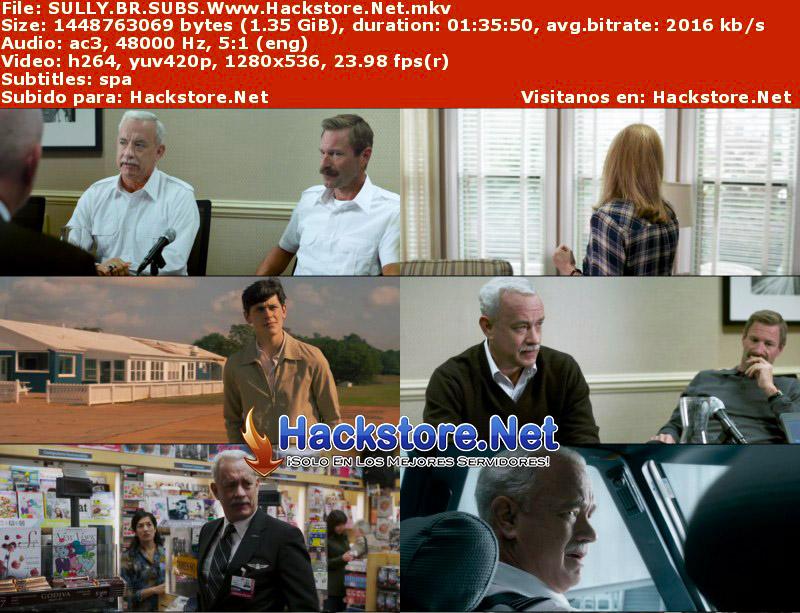 Capturas de Sully: hazaña en el Hudson (2016) Blu-Ray RIP HD Subtitulada