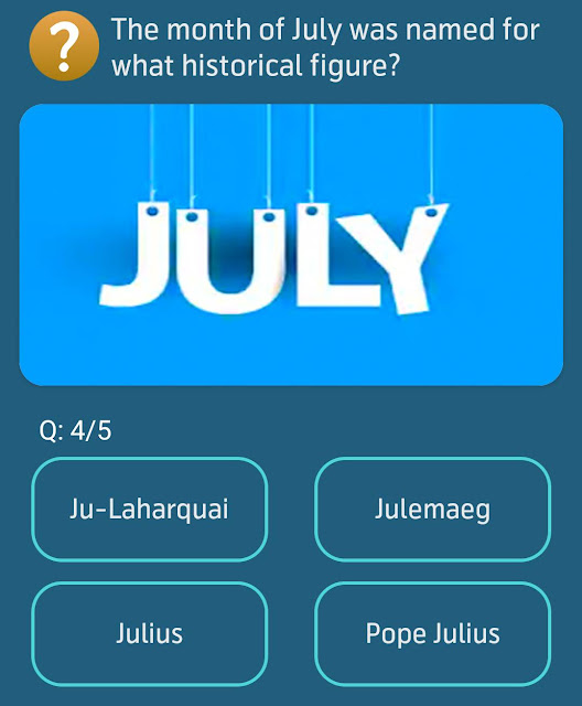 The month of July was named for what historical figure?