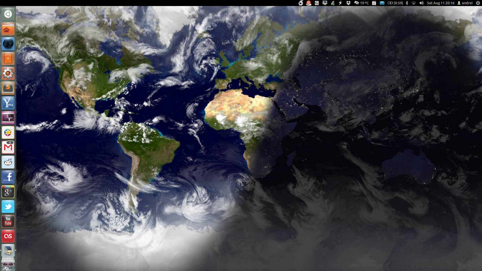 Use Wallpaper Clocks, Live Earth Wallpaper In Ubuntu With Slidewall ~ Web Upd8: Ubuntu / Linux blog