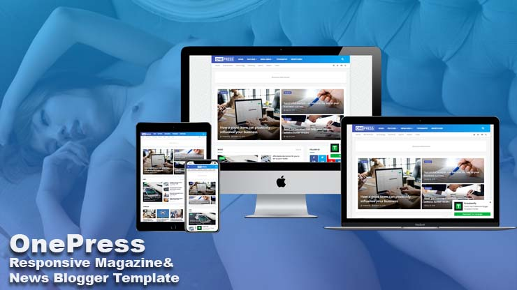 OnePress - Responsive Magazine & News Blogger Template