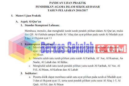 PANDUAN UJIAN PRAKTIK PAI SD TAHUN PELAJARAN 2016/2017 BNSP PDF
