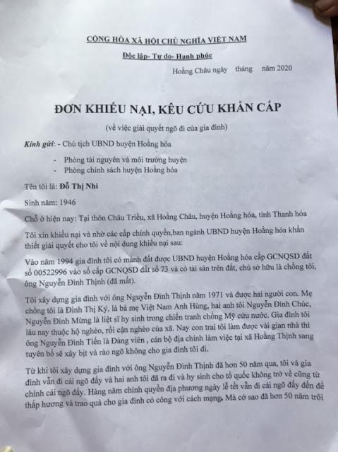 Thanh Hóa: Cán bộ địa chính xã tuyên bố bịt kín ngõ vào nhà dân