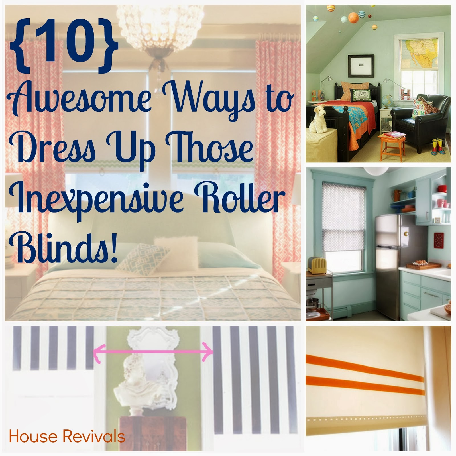 Ideas for Dressing up Inexpensive Roller Shades