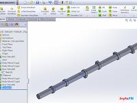 Cara Menggambar Camshaft dengan Solidworks -Tutorial Solidworks
