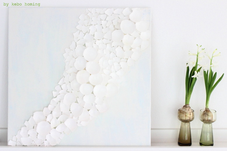 #meinshelfie im April, Osterdekoration, Hyazinthen im Glas, ein DIY Eierschalen Bild auf dem Südtiroler Food- und Lifestyleblog kebo homing