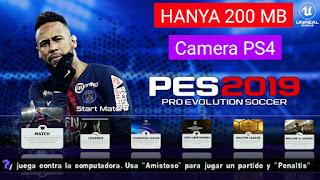 Cara Download PES 2019 PPSSPP Ukuran Kecil (200MB) + Camera PS4 Offline di Android