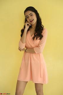 Rukshar Mir in a Peachy Deep Neck Short Dress 115.JPG