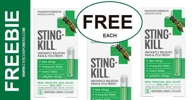 FREE Sting-Kill Swabs CVS Deals