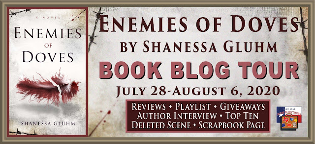 Enemies of Doves book blog tour promotion banner