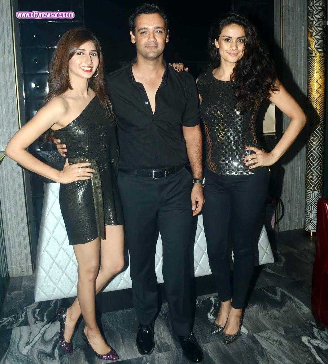 From left Tanvi Shah, Rehan Poncha and Gul Panag at the launch of newly opened night club in Juhu