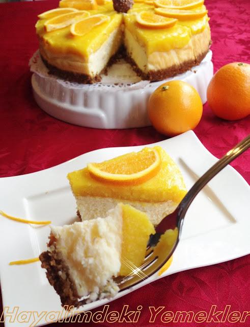 resimli Portakallı Cheesecake tarifi
