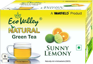 Eco Valley Natural Sunny Lemon Green Tea Bags Box  (25 Bags)