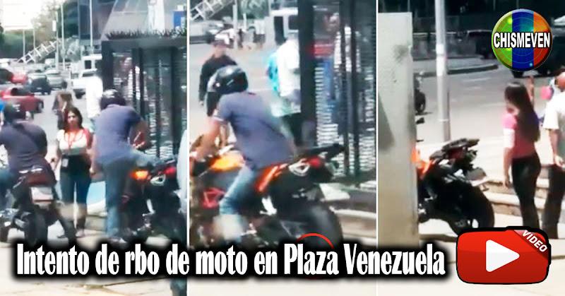 Así trataron de robarse esta moto en Plaza Venezuela