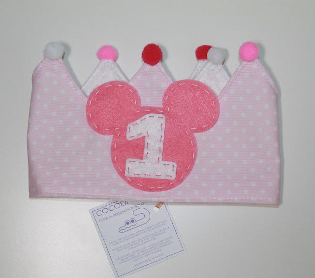 corona de cumpleaños minnie mouse 1 año