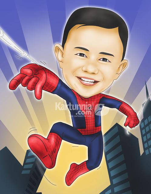 Karikatur Anak Spiderman