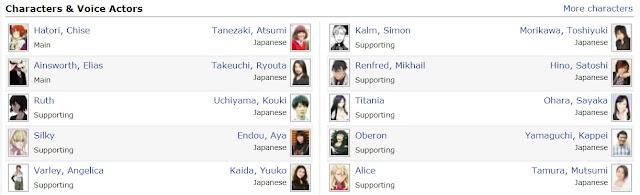 Characters and voice actors mahoutsukai no yome
