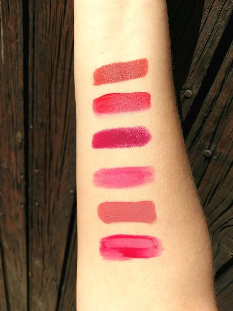 Swatch rouge à lèvres