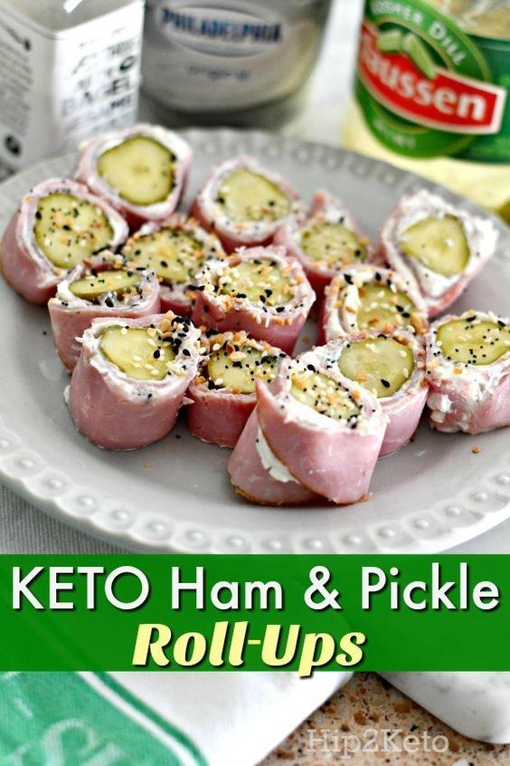 Ham, Pickle & Cream Cheese Roll-Ups