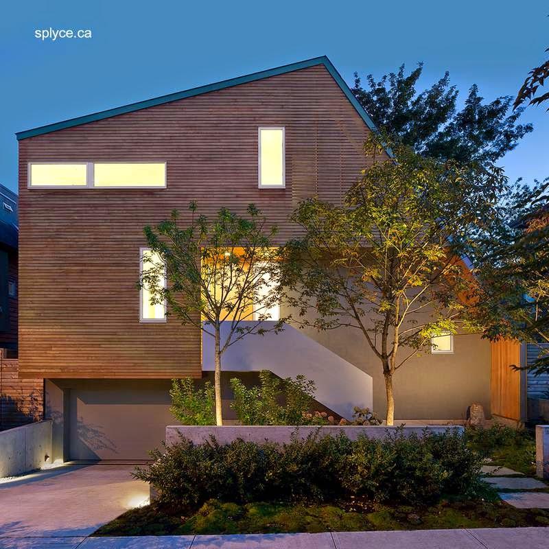 Residencia urbana contemporánea asimétrica en Canadá