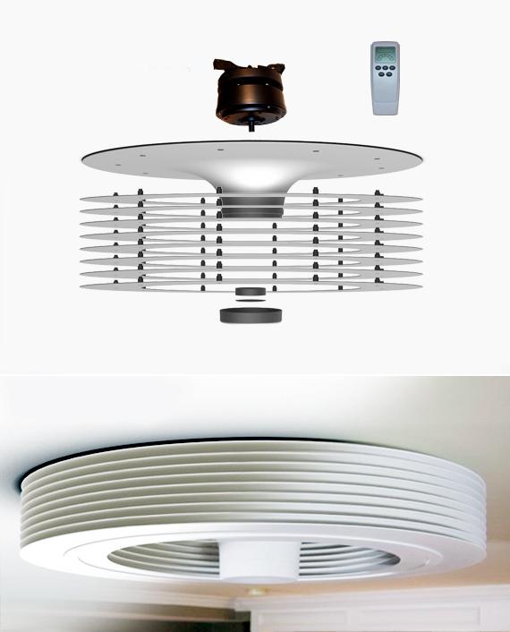 futurix: exhale fans, il primo ventilatore a soffitto senza pale