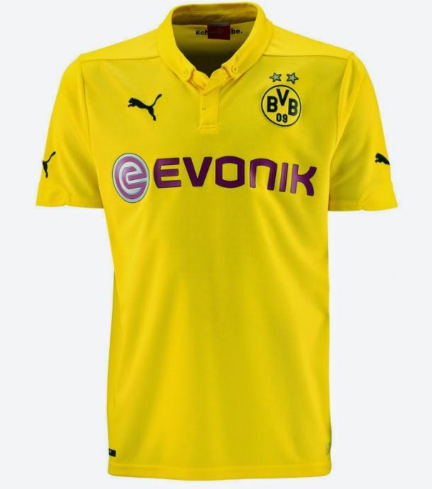 f9f7aae693ac1 O Borussia Dortmund oficializou sua nova camisa para disputa da Liga dos  Campeões 2013 2014. Confira abaixo