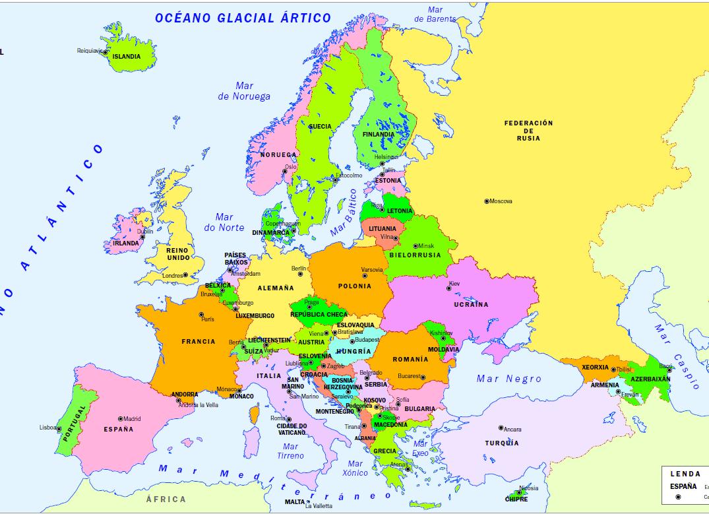 Politico Mapa Europa Con Capitales.Unidad 3 La Organizacion Politica De Las Sociedades