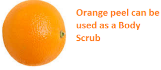 Orange peel can be used as a Body Scrub - Oranges citrus fruit peel (Santre Ke Chilke)