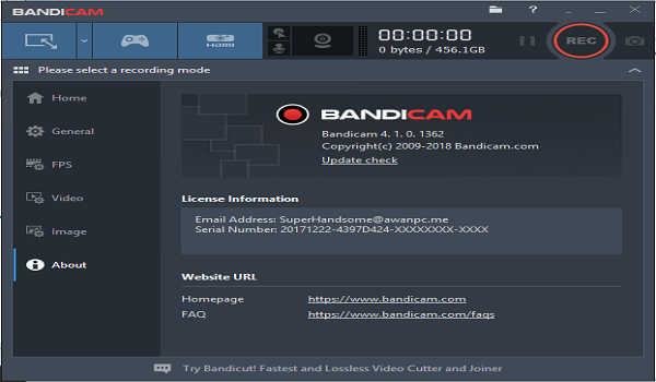 Bandicam 3 4 0 1227 Full + Keygen Screen Recorder | FREEGSMCRACK