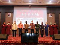 Kapolresta Samarinda, Walikota Samarinda dan Dandim 0901/ SMD Tinjau Kegiatan Vaksinasi Massal Dalam Rangka HUT Bhayangkara Ke -75