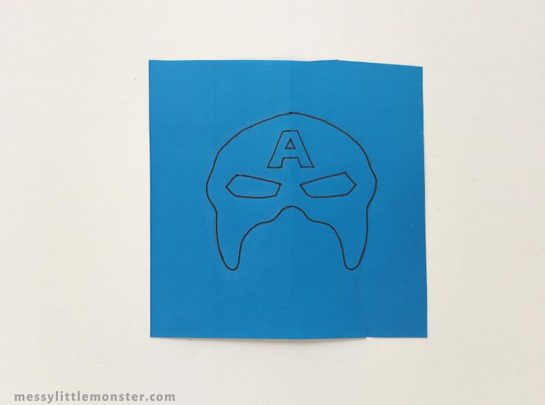 Superhero mask craft template