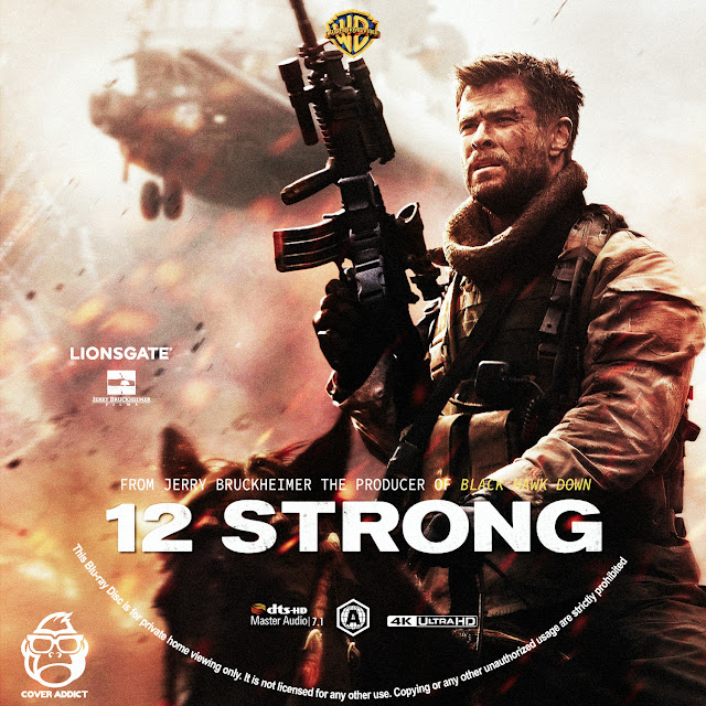 12 strong 4k bluray label