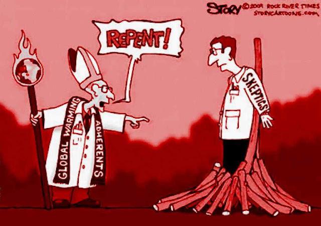 """""""Arrepende-te!"""": a Inquisição aquecimentista não tolerava nem a dúvida. A opinião pública estava sendo sufocada até que disse """"Chega!"""""""