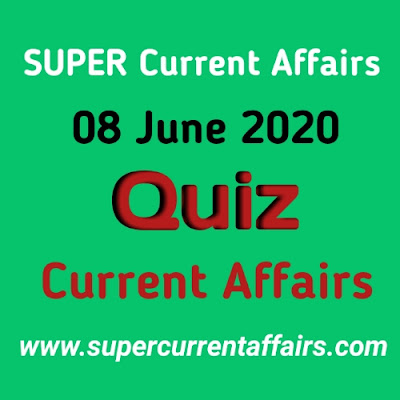 8 June 2020 Current Affairs Quiz in Hindi