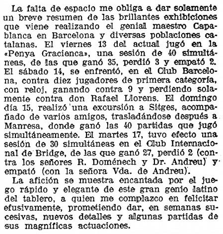Recorte de La Vanguardia, 20/12/1935
