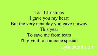 Last Christmas Lyrics