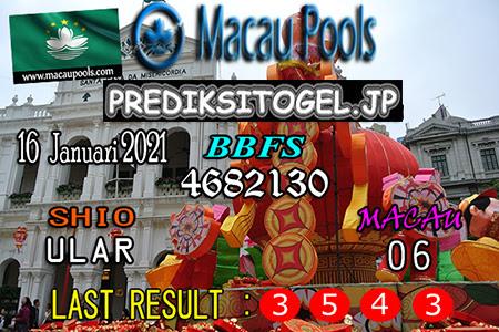 Prediksi Togel Wangsit Macau Pools Sabtu 16 Januari 2021