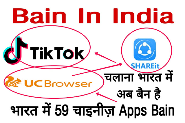 List of 59 Apps Banned In India.
