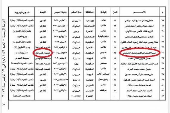 العفو-عن-يسرا-الخطيب-أحد-أعضاء-جماعة-الأخوان-الإرهابية-كالتشر-عربية