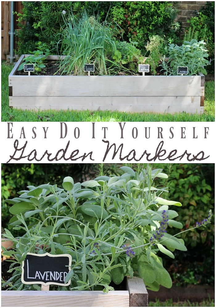 Use this easy DIY to make your own garden markers to clearly identify and label your vegetable or flower garden